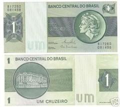 BRAZIL 1 CRUZEIRO LIBERTY HEAD NOTE UNC~FREE SHIPPING~ - $1.97