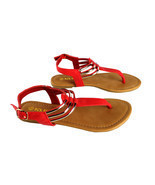 Lady Ankle Strap Thongs Sandal Casual Golden Sling Back Summer Flat Flip... - $19.99