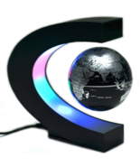 LED Levitation Floating Magnetic World Map Globe Rotating  Colorful LED ... - $37.55
