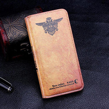 iPhone 6 Luxury Retro Pattern BROWN PU Leather Flip style protective wallet case - $15.34