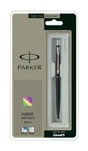 BEST PRICE Parker Classic Matte Black Chrome Plated Ball Pen [Office Product] - $5.76