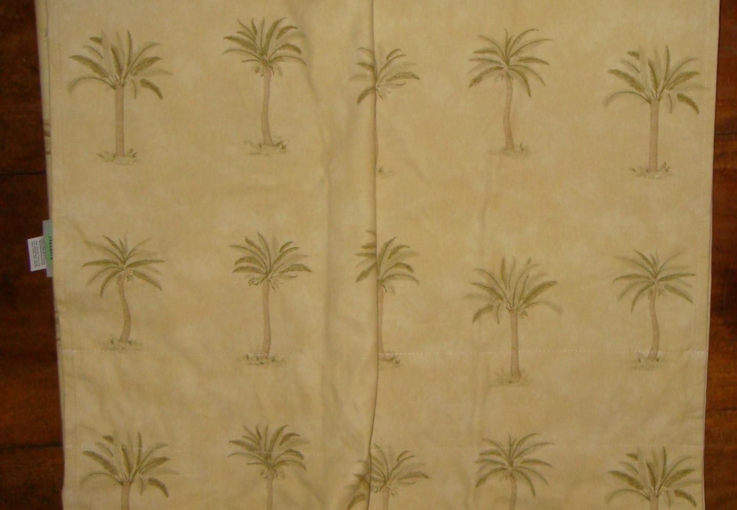 Waverly Tahiti Palm Trees Window Treatment Valance Classics Yellow Green Curtains Drapes
