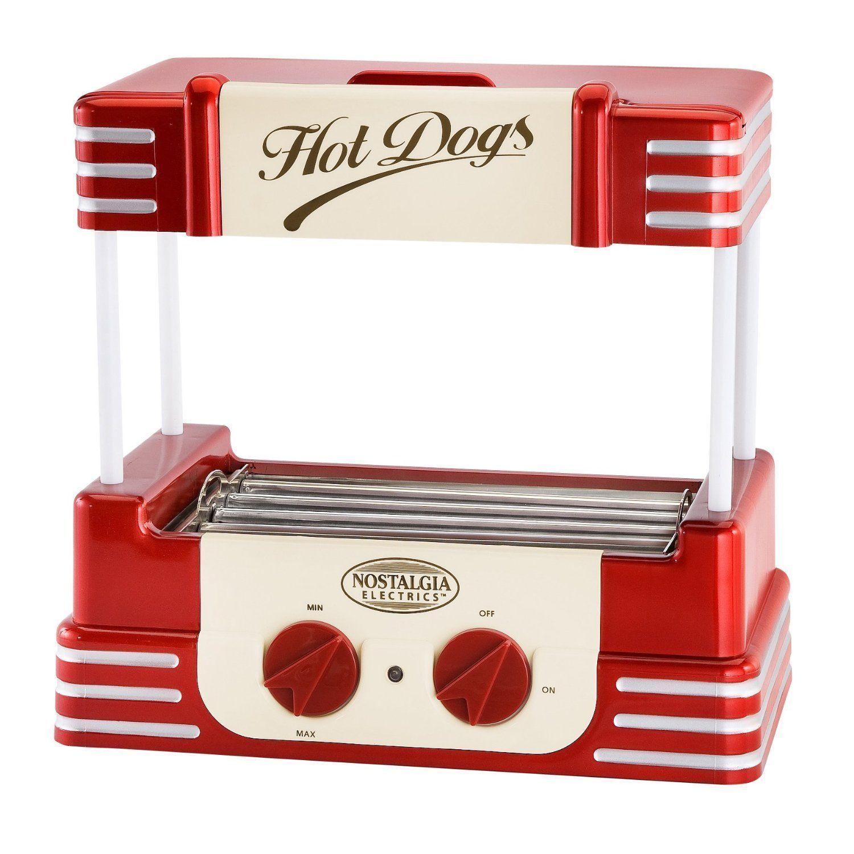 Mini Hot Dog Roller Grill Machine & Bun Warmer ~ Electric Rolling Hotdog Cooker