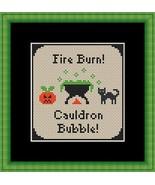 Cauldron Bubbles halloween cross stitch chart Stitchers Anon Designs - $5.00