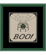 Boo halloween cross stitch chart Stitchers Anon Designs - $5.00