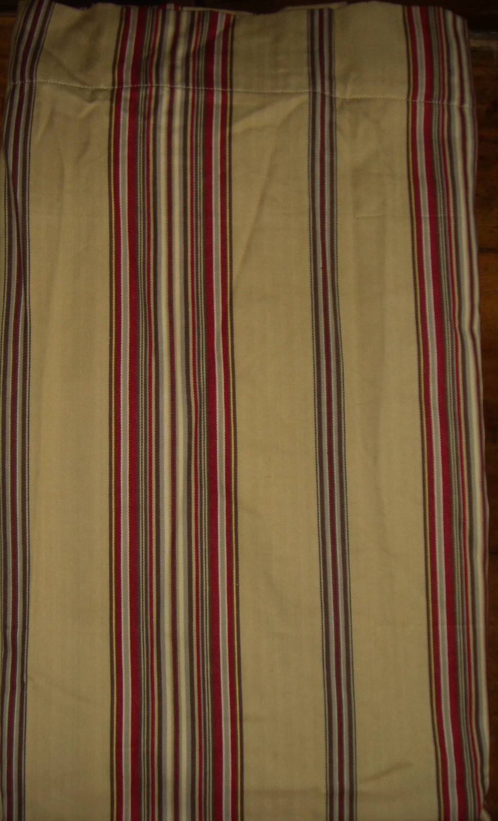 Pottery Barn Montgomery Stripe Drapery Panel 50 X 84 Wheat Red Brown Stripes E Curtains