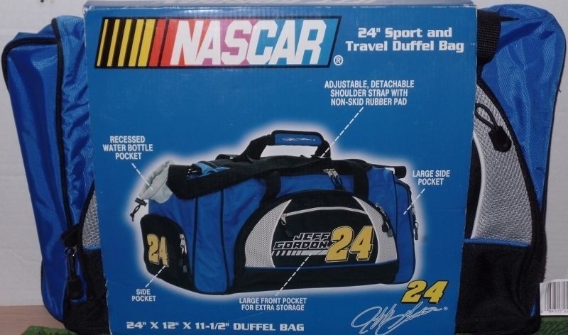 Primary image for NASCAR Jeff Gordon Sport Travel Duffel Bag 24 Inch Race Car Gym Bag NEW
