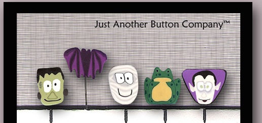 Monster Mash JP108 It's A Wrap set 5 for pincushions JABC Just Another Button Co