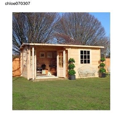 4m x 3m log cabin home office executive garden outdoors for Selling a log home