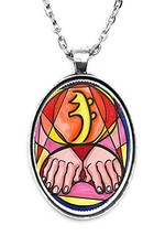 Sei Hei Ki Reiki Huge 30x40mm Handmade Silver Plated Art Pendant [Jewelry] - $14.95