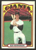 San Francisco Giants Ken Henderson 1972 Topps Baseball Card # 443 vg - $0.55