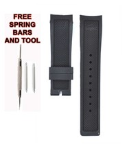 Lacoste 2010759 22mm Black Rubber Watch Strap Band LCS109 - $28.71