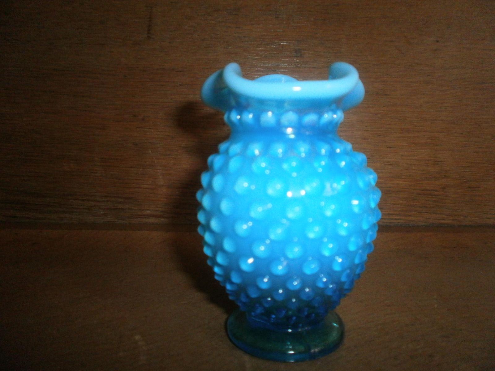 Blue Hobnail Vase