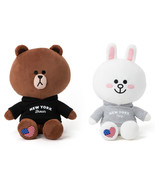 LINE Friends New York Edition BROWN CONY Hoodie Plush Doll 28cm 40cm Cha... - $46.57+