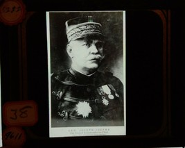 WW1 French Forces Glass Slide Plates Marshal Joseph Joffre Commander in ... - $132.95