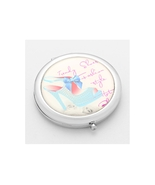 Adoring Blue Bow Mule Folding Makeup Round Compact Mirror - $8.95