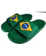 Adidas Originals Country Flag Slides Adilette Sandals BRAZIL World Cup Soccer - $27.99