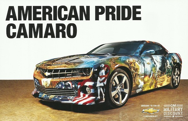 2013 Chevrolet CAMARO AMERICAN PRIDE Concept brochure catalog card GM Military