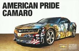 2013 Chevrolet CAMARO AMERICAN PRIDE Concept brochure catalog card GM Mi... - $6.00