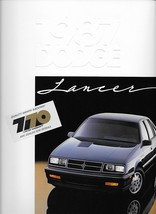 1987 Dodge LANCER sales brochure catalog US 87 ES - $6.00