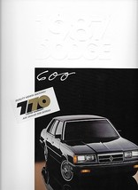 1987 Dodge 600 sales brochure catalog US 87 SE - $6.00
