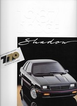 1987 Dodge SHADOW sales brochure catalog US 87 ES - $6.00