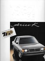 1987 Dodge ARIES K sales brochure catalog US 87 LE - $6.00
