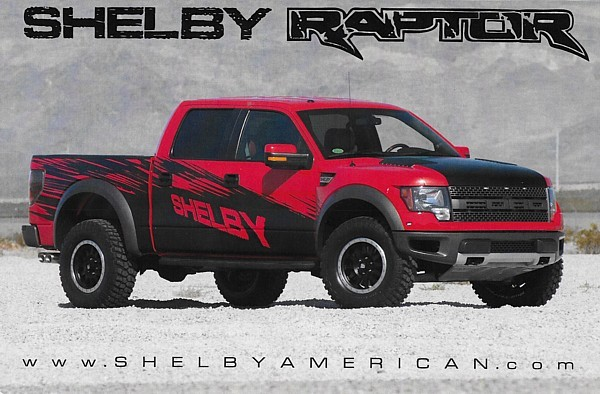 Primary image for 2011-2014 Shelby RAPTOR sales brochure catalog card F150 Ford