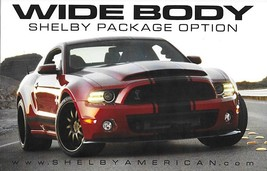2005-2014 Shelby WIDE BODY sales brochure card sheet Ford Mustang - $7.00