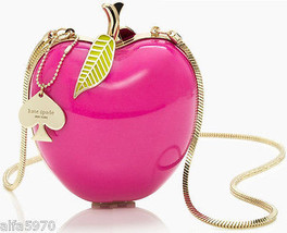 KATE SPADE CLUTCH! :) Far From the Tree RESIN APPLE CLUTCH! :) NWT/Dustb... - £187.96 GBP