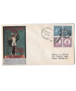 US Olympic Village Cachet 1932 Summer Opening Day Cover Sc 718 719 Pairs - $55.00
