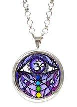 Seventh Chakra Opening Spiritual Enlightenment Manifestation Silver Pend... - $14.95