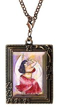 Curvy Girl Belly Dancer in Red Huge Oversize Clip Charm Pendant - $14.95