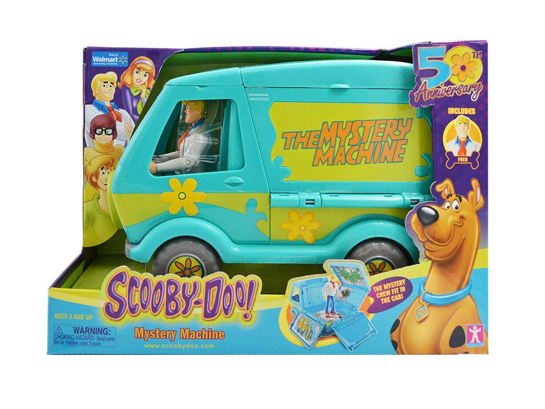 Scooby-Doo Mystery Machine Van & Fred Action Figure Exclusive 50 Years Birthday - $26.99
