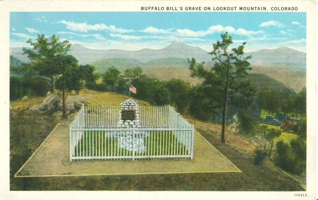 Buffalo Bill's Grave on Lookout Mountain, Colorado, 1920s unused Postcard