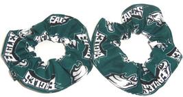 Philadelphia Eagles Hair Scrunchie Scrunchies by Sherry Tie NFL Ponytail Holder - $6.99+