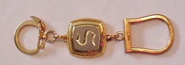 """Vintage Keychain Unsigned initial """"S"""" Gold-tone & silver-tone - $13.95"""