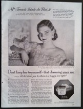 1951 Pond's Cold Cream Mrs. Francis du Pont II ... - $12.95