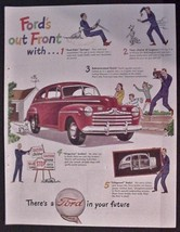 """1946 Ad Ford Classic Car Automobile CARS """"Ford's out front with"""" Lifegua... - $15.95"""