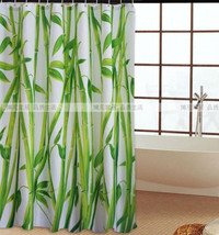 Bamboo Pattern Polyester 180 X 180 Cm Bathroom Waterproof Shower Curtain Set - $23.99