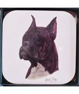 Original Boxer Portrait Dog art Coasters (4) Animals signed Artist Robert J May - $13.96