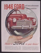 """1946 Ad Ford Classic Car Automobile """"the most beautiful car FORD ever bu... - $13.95"""