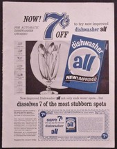 ALL DISHWASHING DETERGENT 1963 PRINT AD LEVER BROTHERS CORP - $12.95