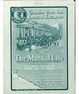The Mutual Life Insurance Company, rare 1904 print ad. B&W Illustration ... - $22.76