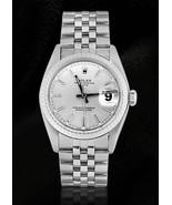 Rolex date silver stick dial SS jubilee bracele... - $3,084.84