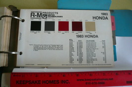 1983 Honda R M Inmont Color Chips   - $7.84