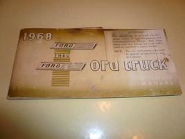 1968 Ford Truck 100 thru 350 Operator's Manual  - Glove Box  - $14.49
