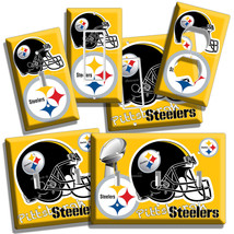 Pittsburgh Steelers Nfl Super Bowl Football Light Switch Outlet Wall Plate Cover - $9.99+