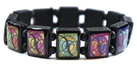 Bisexual Symbol Black Wood Stretch Bracelet [Jewelry] - $14.95