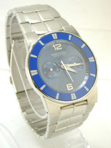 2344 Kenneth Cole Reaction KC3695 Multifunction Blue Dial Stainless Steel Men's - $80.00